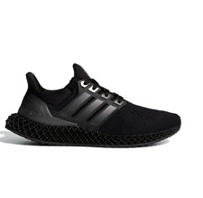 Adidas Ultra 4D Running Shoes Sneakers Triple Black FY4286 Size 4-12