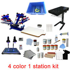 4 color 1 station print kit silk screen printing machine with press consumable
