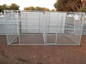 GREYHOUND DOUBLE LARGE DOG CAGE PUPPY PLAY PEN  METAL ENCLOSURE KENNEL RUN
