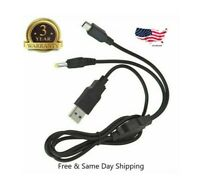 2IN1 USB DC Power Charger Data Trabsfer Cable for Sony Playstation PSP 1000 2000