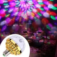 6W Crystal Magic Ball RGB LED Rotating Stage Light Bulb Lamp Disco DJ KTV Home