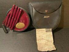 Vintage Lufkin Measuring Wheel with Leather Case Model 202