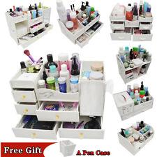 Make up Storage Box Cosmetic Stationery Drawer Desktop Table Organiser Holder AU