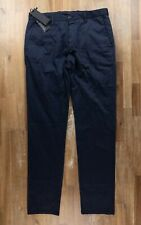 Z ZEGNA navy blue cotton chino trousers authentic - Size 34 US / 50 EU - NWT