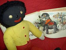"Wonderful vintage DEAN'S Rag Book Co. Ltd. England, black cloth 26"" labeled doll"