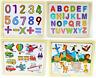 Kinderpuzzle ab 2 jahre Zahlen Buchstaben Tiere Fahrzeuge Pferde Alphabet Puzzle