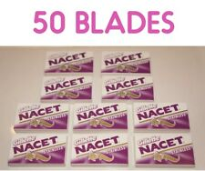 50 Gillette NACET STAINLESS Double Edge Razor Blades Made in Russia
