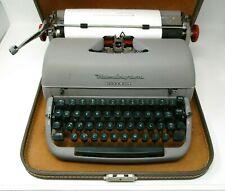 Vintage Typewriter Remington Rand Office Riter Portable in Case Green Keys 1950s