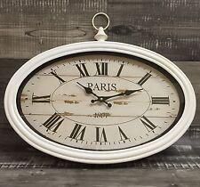 """XXXL Wanduhr """"Antik Look"""" Uhr """"Paris""""50cm Vintage Metall/Glas Retro NEU"""