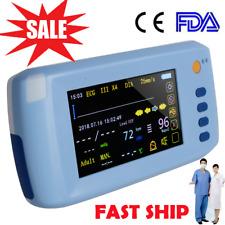 51inch Handheld Vital Sign Patient Monitor Ecg Nibp Spo2 Pulse Rate Temperature