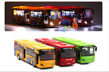 City Bus Big Size Two-Door Alloy Tourist Bus Model Toy With Light Music Toys Kid