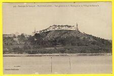 cpa 22 - PLOUBAZLANEC (Côte d'Armor) Village et TOUR de KERROC'H Vigie Montagne