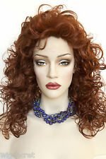 Medium Length 16 in Layered Blonde Grey Brunette Red Curly Wigs