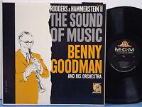 BENNY GOODMAN-FLIP PHILLIPS-RED NORVO Sound of Music RARE EXC 1959 DG MGM MONO