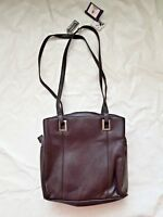 HUSH PUPPIES BROWN ITALIAN LEATHER HOBO SATCHEL SHOULDER TOTE EVENING BAG