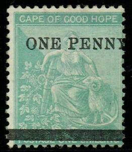 Cape of Good Hope 1874 SG33 1d on 1/- Green CDS Fine Unused Cat. £140.00
