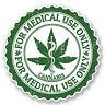 2 x Cannabis Vinyl Sticker Decal iPad Laptop Medical Use Weed Marijuana #4652/SV