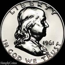 1961 Franklin Half Dollar ~ GEM Proof Uncirculated ~ 90% Silver US Coin