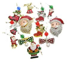 Pack de 100 Noël Festif Tree Stocking pendaisons Broche rouge pin NOUVEAU UK