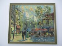 OIL PAINTING VINTAGE IMPRESSIONIST IMPRESSIONISM  PARIS FRENCH FRANCE MONMARTRE
