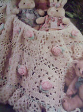 CROCHET  PATTERN AFGHAN  PRECIOUS PINK ROSES   INSTRUCTIONS