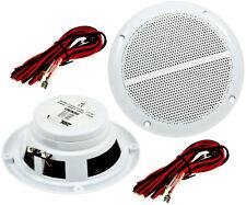 2 Marine Lautsprecher A64 für Boot Yacht Bad Sauna weiße Boxen Lautsprecher