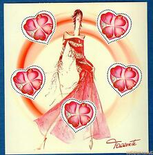 France Bloc N°54 Saint Valentin Coeurs Couturier Torrente 2003 Neuf Luxe
