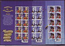 Briefmarken aus Großbritannien mit Briefstück
