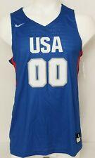 NEW USA Olympics Nike Hyperlite Rio Blue Athletic Basketball Jersey Men's L