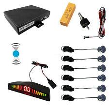 Black 6 Sensors Car Wireless Parking Sensor 2 Front 4 Rear Backup Radar