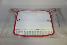 NOS HUTCH BMX NUMBER PLATE SEALED PACKAGE RED WHITE BLUE Original 80's