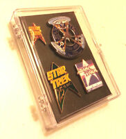 Star Trek 25th Anniversary Cloisonne Pin Set of 4 in Plastic Box (TRK-Set-02)