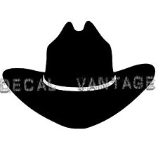 Cowboy Hat Vinyl Sticker Decal Country Cowgirl - Choose Size & Color
