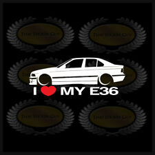 I Heart My E36 Sticker Decal Love BMW M3 Slammed Euro Germany Sedan