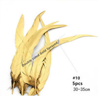 30-35cm Quality Coque Rooster Feathers Wedding Millinery Craft DIY Costume 5 pcs