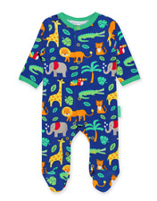 Toby Tiger Organic Jungle Animals Babygrow Sleepsuit | 0-3 3-6 6-12 Months