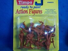 Timpo Cowboy Toy Soldiers, Mib (54Mm) 8 figures