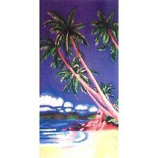 Serviette Drap de plage Palmiers Seychelles strandtuch beach towel coton