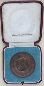 Antique Cambridge University Doubles Tennis Medallion 1925 in Munsey Case