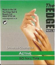 THE EDGE Active Nail Tips Natural Half Well False Nails Gel Acrylic GENUINE