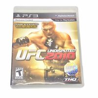 UFC Undisputed 2010 (Sony PlayStation 3 PS3) Complete - Tested
