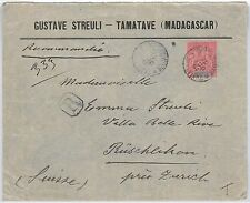 French Colonies: MADAGASCAR -  POSTAL HISTORY - COVER to SWITZERLAND 1911
