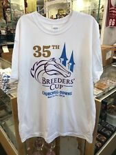 2018 Breeders Cup 35th Running  Nov. 2 and 3 - White Logo Shirt - X-LARGE
