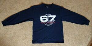 Polo Ralph Lauren Boys Cotton Long Sleeves T-Shirt Sz Small Navy Mint Condition