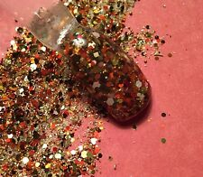 glitter mix acrylic gel nail art  FALL IS IN THE AIR  Limited Edition