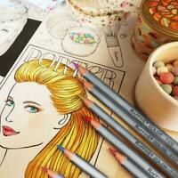 24/36/48/72 Color Fine DIY Art Colored Drawing Pencils Coloring Sketching B I3A4