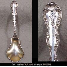 Antique 1897 Gorham Sterling Silver Sugar Spoon Strasbourg Pattern