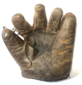 Vtg 1920s Leon Goose Goslin Wilson? Model #690 Baseball Glove Buckle Back Mitt