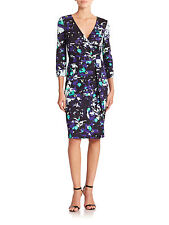 DVF Diane von Furstenberg New Julian Two Wrap Dress  Ink Lagoon US sz 4 UK sz 8