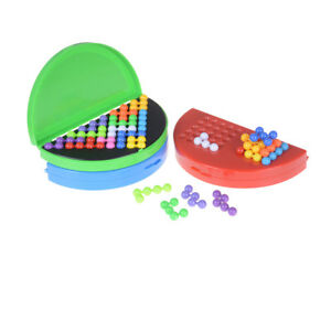 Classic Beads Puzzle Pyramid Plate IQ Mind Game Brain Teaser Educational To-hg